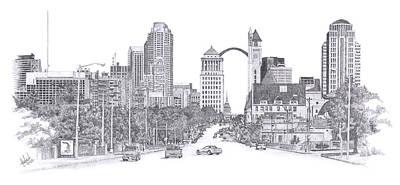 St Louis Skyline Original by Andrew Aagard
