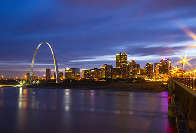 Photograph - St Louis Skyline From The Eads Bridge by Garry McMichael