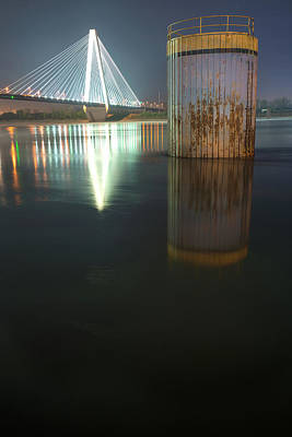 Photograph - St Louis Stan Musial Bridge On The Mississippi by Gregory Ballos
