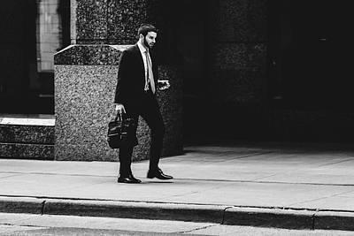 Photograph - St. Louis Street Photography - Man Walking On Sidewalk by Dylan Murphy