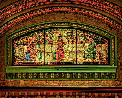 Photograph - St Louis Union Station Allegorical Window Dsc00279-1 by Greg Kluempers
