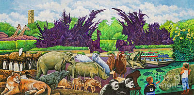 Painting - St. Louis Zoo by Michael Frank