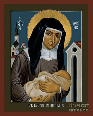 Painting - St. Louise De Marillac - Rlldm by Br Robert Lentz OFM