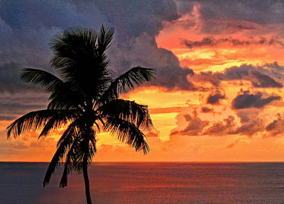 Photograph - St. Lucia Sunset by Carolyn Derstine