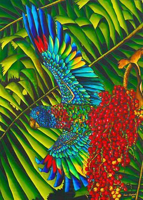 Amazon Parrot Painting - Amazona Versicolor - Exotic Bird by Daniel Jean-Baptiste