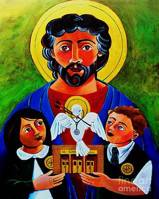 Painting - St. Luke The Evangelist - Mmluk by Br Mickey McGrath OSFS