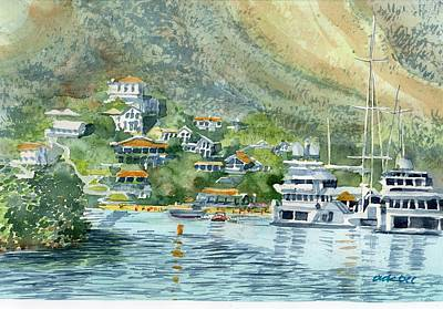 Painting - St. Maarten Cove by Dick Dee