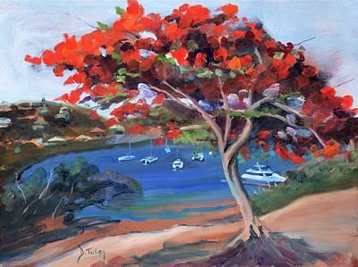 Donna Summer Painting - St. Maarten's Oyster Pond by Donna Tuten