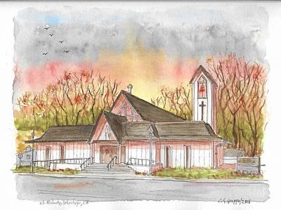 St. Malachy Church, Tehachapi, California Art Print