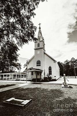 St. Margaret Catholic Church - Springfield La Art Print by Scott Pellegrin