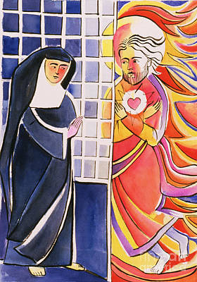 St Margaret Painting - St. Margaret Mary Alacoque, Cloister - Mmmmc by Br Mickey McGrath OSFS