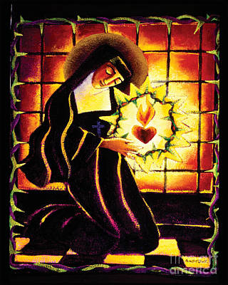 St Margaret Painting - St. Margaret Mary Alacoque - Mmmma by Br Mickey McGrath OSFS