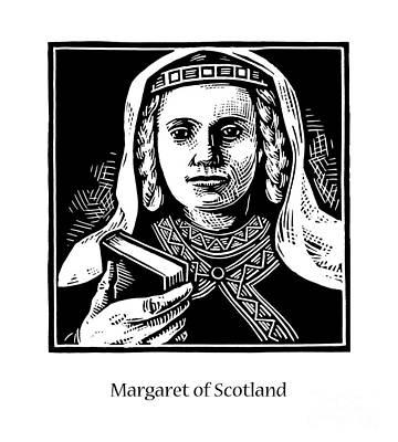 Painting - St. Margaret Of Scotland - Jlqms by Julie Lonneman