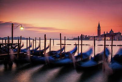 Italian Photograph - St. Marks At Sunset by Andrew Soundarajan