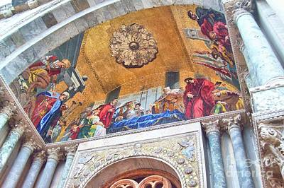 Photograph - St. Marks Basilica Venice Italy by John Noyes and Janette Boyd
