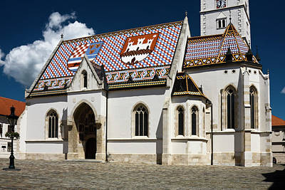 Photograph - St. Mark's Church Zagreb by Sally Weigand