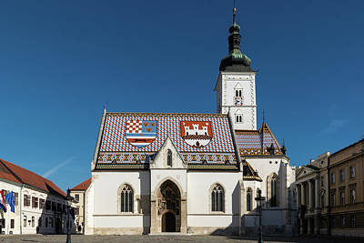 Photograph - St. Mark's Church Zagreb by Steven Richman