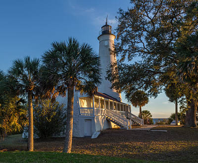 St. Marks Lighthouse, Fl Art Print by Capt Gerry Hare