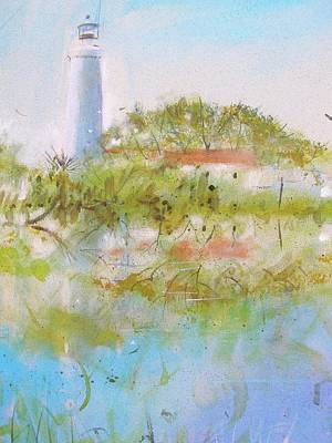 Painting - St Marks Lighthouse by Gertrude Palmer