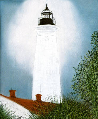 Pastel - St. Marks Lighthouse by Jan Amiss