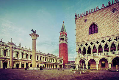Photograph - St. Mark's Square by Andrew Soundarajan