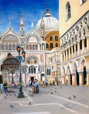 St. Marks Square Art Print by Leah Wiedemer