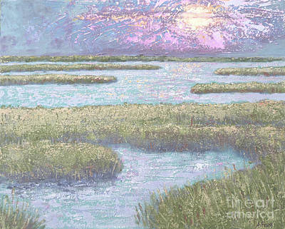 Painting - St. Mark's Sunrise From A Photograph By Rex Adams by Audrey Peaty