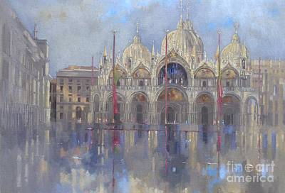 Rainy Painting - St Mark's -venice by Peter Miller