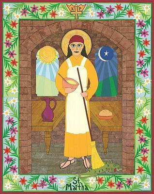 Religious Art Mixed Media - St. Martha Icon by David Raber