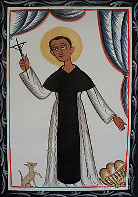 Painting - St. Martin De Porres - Aopor by Br Arturo Olivas OFS