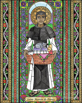Painting - St. Martin De Porres by Brenda Nippert