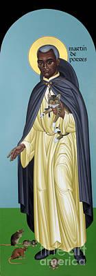 Painting - St. Martin De Porres - Rlmrp by Br Robert Lentz OFM