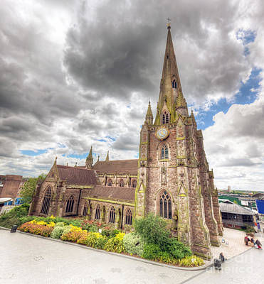 Ancient Photograph - St Martin In The Bull Ring Church In Birmingham, England, The Uk by Michal Bednarek