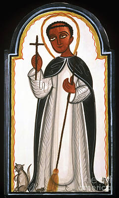 Painting - St. Martin Of Porres - Aomap by Br Arturo Olivas OFS