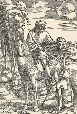 Relief - St. Martin On Horseback by Hans Baldung Grien