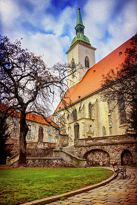 Architectural Detail Photograph - St Martins Cathedral Bratislava by Carol Japp