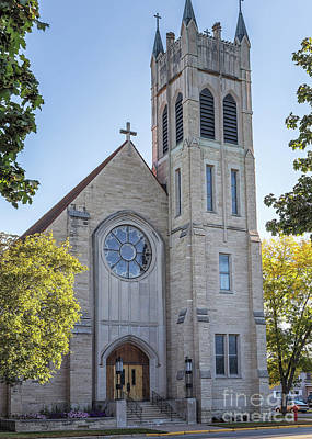 Photograph - St Martins Church Winona Minnesota Front Vertical by Kari Yearous