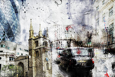 Digital Art - St Mary Axe by Nicky Jameson