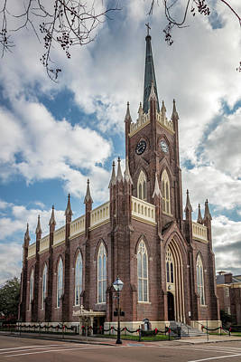 Photograph - St Mary Basilica Ext Corner by Gregory Daley  MPSA