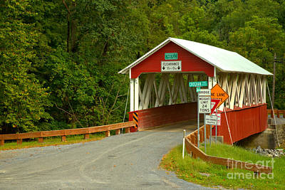 Photograph - St. Mary Covered Bridge Around The Bend by Adam Jewell