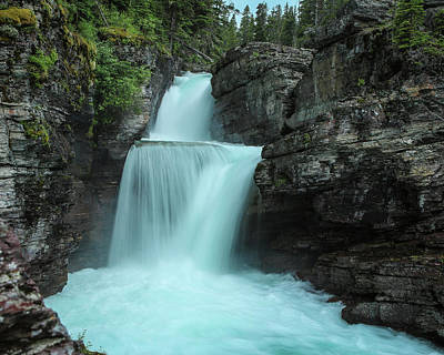 Photograph - St. Mary Falls by David Lyle