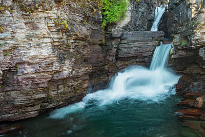 Photograph - St. Mary Falls by Gary Lengyel