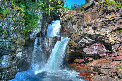 Photograph - St. Mary Falls by Steve Stuller