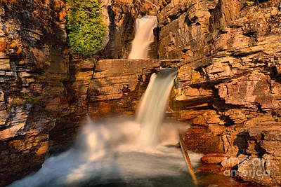 Photograph - St. Mary Falls Sunrise Landscape by Adam Jewell