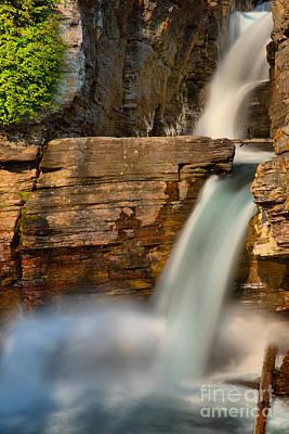 Photograph - St Mary Falls Sunrise Portrait by Adam Jewell