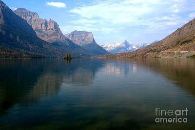 Photograph - St. Mary Lake Blue Morning Reflections by Adam Jewell