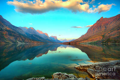 Photograph - St Mary Lake Clouds And Calm Water by Adam Jewell