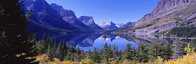 St Mary Lake Glacier National Park Mt Art Print