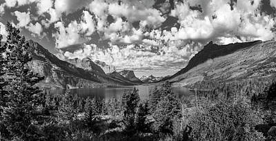 Photograph - St Mary Lake Glacier National Park Panoramic by John McGraw