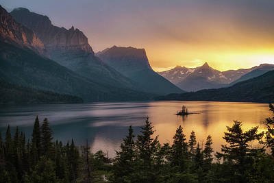 Photograph - St. Mary Lake by Jeff Handlin